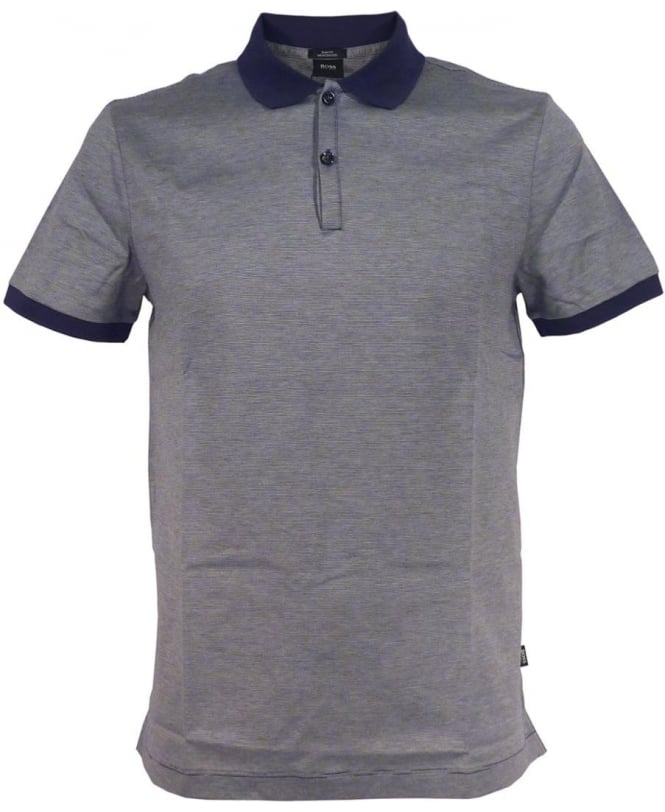 Hugo Boss Navy Stripe 'Penrose 05' Polo Shirt