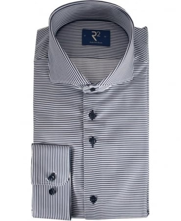R2 Westbrook Navy Striped 92 STP 03 Shirt