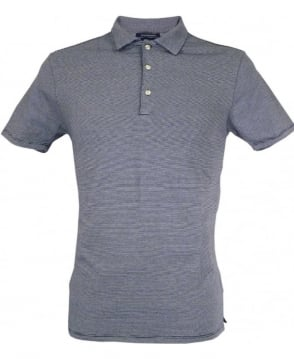 Scotch & Soda Navy Striped Refined Polo Shirt