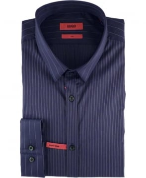 Hugo Navy Striped Slim Fit Ero3 Shirt