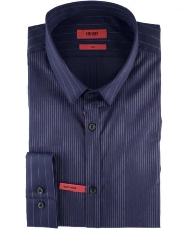 Navy Striped Slim Fit Ero3 Shirt