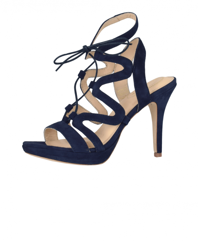 79889fbbb608 Sargossa Navy Suede Chic Sandals - Shoes from Jonathan Trumbull UK
