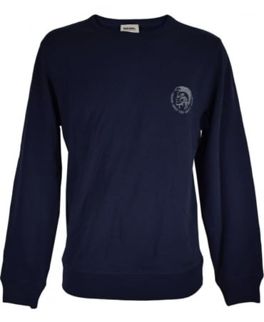 Diesel Navy SWT-Willy Crew Neck Sweatshirt