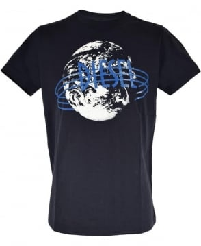 Diesel Navy T-Diego Crew Neck T-Shirt