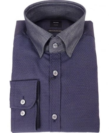 Hugo Boss Navy T-Simon 1 Tailored Fit Shirt
