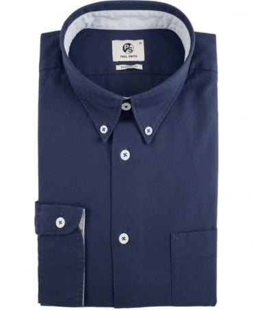 PS by Paul Smith Navy Tailored Fit Button Down Shirt