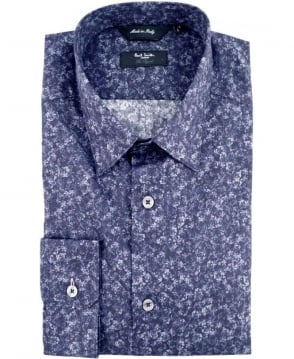Paul Smith - London Navy The Byard PNXL-659A-M75 Floral Print Shirt