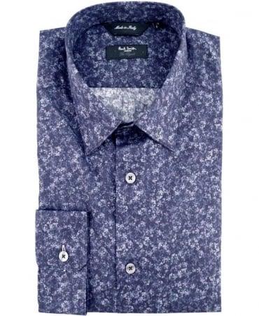 Paul Smith - London Navy The Byard PNXL-659A-M75 Floral Print Shirt