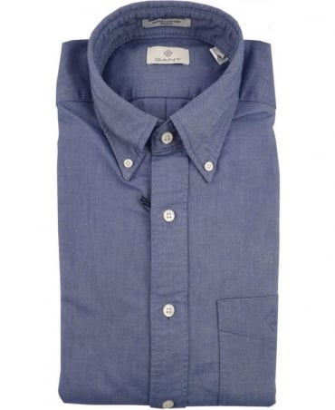 Gant Navy The Perfect Oxford Diamond G Shirt