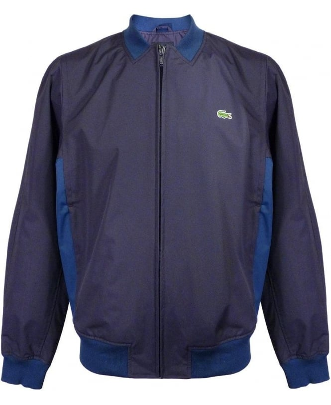 Lacoste Navy Two Tone BH7726 Full Zip  Blouson