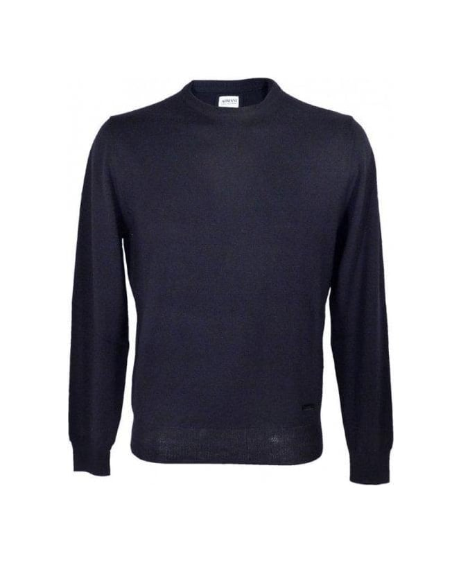 Armani Navy Virgin Wool Jumper