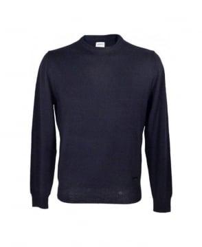 Armani Collezioni Navy Virgin Wool Jumper