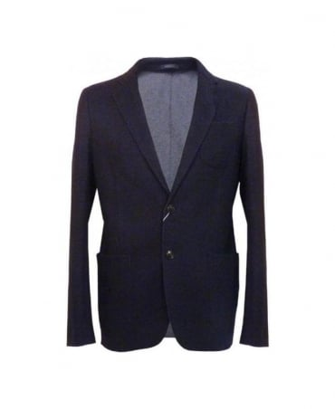 Armani Navy Washed Appearance MCF14 Jacket