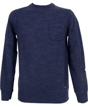 Navy 'Wenelow' Crew Neck Sweatshirt