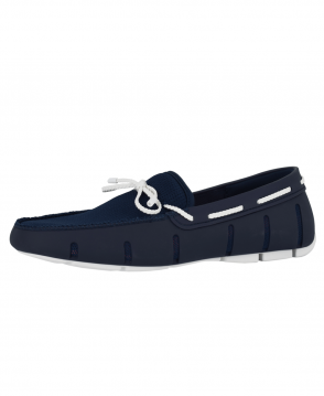 Swims Navy/White Braided Lace Loafer