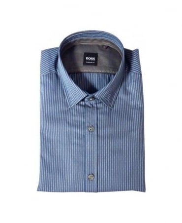 Hugo Boss Navy & White Lorenzo Shirt