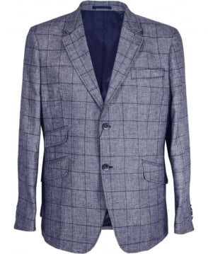 Holland Esquire Navy Windowpane Reginald Jacket