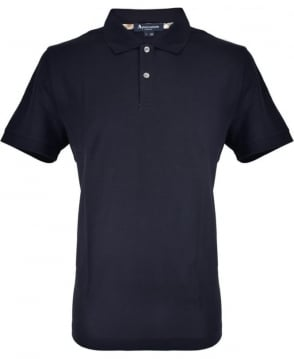 Aquascutum Navy With Club Check Hector Polo Shirt