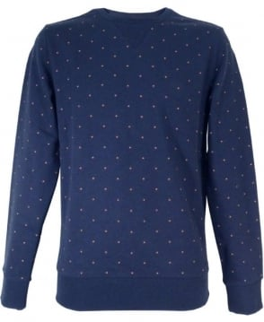 Hugo Boss Navy With Dots Wyott Sweatshirt