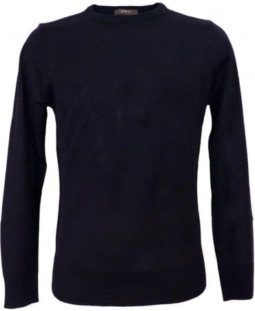 Replay Navy Wool Blend Pullover