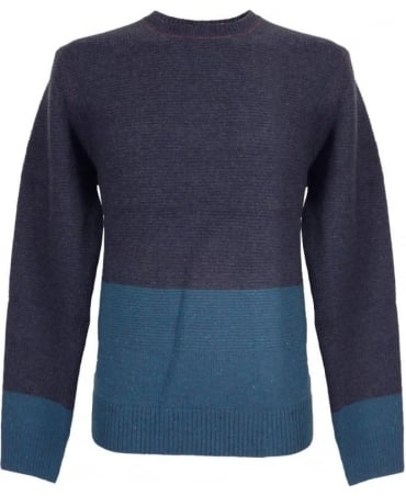 Paul Smith - Jeans Navy Wool Regular Fit Sweater