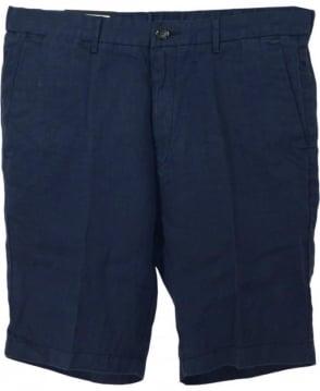 Hugo Boss Navy Yaron Linen Shorts