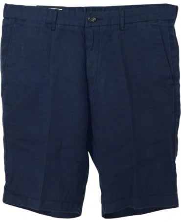 Hugo Boss Navy Yaron Linen Shorts
