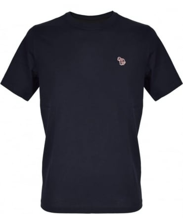 PS By Paul Smith Navy Zebra Embroidered Chest Logo T-shirt
