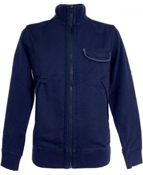 Hugo Boss Navy Zidanne 1 Band Collar Sweatshirt