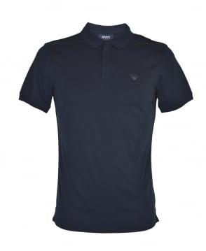 Armani Jeans Navy Zip Placket Polo