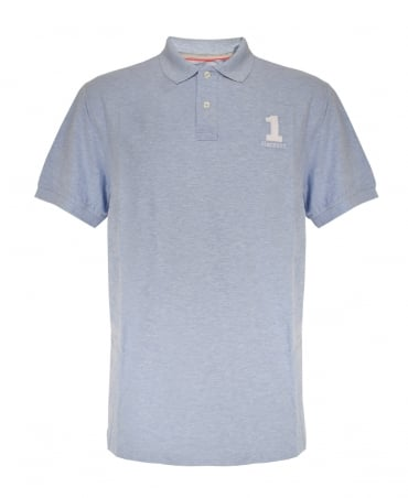 Hackett New Classic Short Sleeved Polo Shirt In Sky Blue