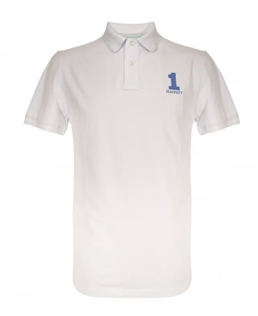 Hackett New Classic Short Sleeved Polo Shirt In White