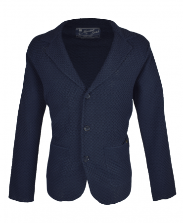 Night Navy Structured Knit Cardigan