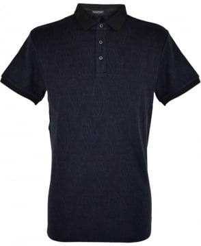 Scotch & Soda Night Paisley Jacquard Pattern  136534 Polo Shirt