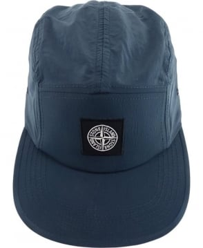 Stone Island Nylon Metal Hat In Blue