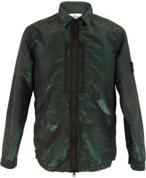 Stone Island Nylon Metal Overshirt In Dark Green