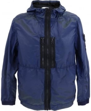 Stone Island Nylon Metal Watro Colour Weft Jacket In Blue