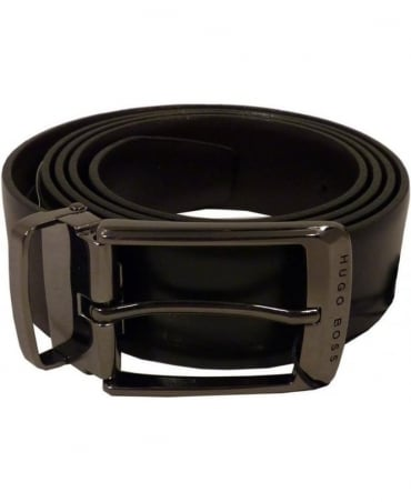 'Ocar-CN' Reversible Leather belt In Black/Brown