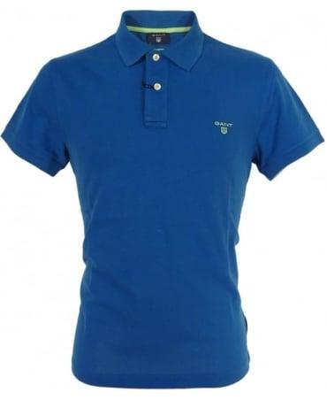 Gant Ocean Blue Contrast Logo Polo