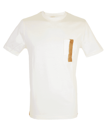 Off White Button Chest Pocket T-shirt