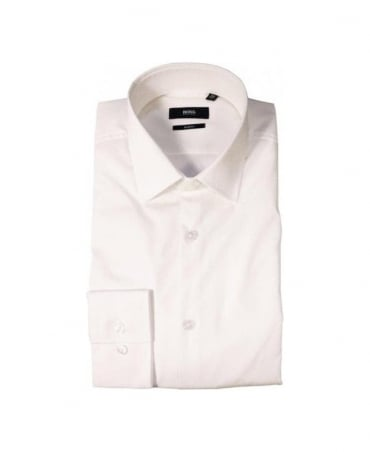 Hugo Boss Off White Slim Fit shirt