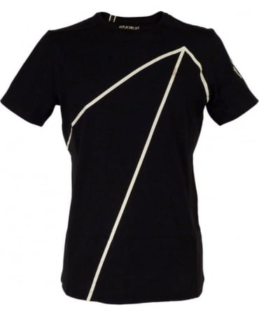 Replay One Off Jersey T-shirt With Print In Black