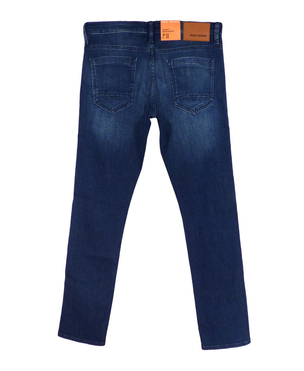 hugo boss 39 orange 71 39 extra slim fit jeans in blue hugo boss from jonathan trumbull uk. Black Bedroom Furniture Sets. Home Design Ideas