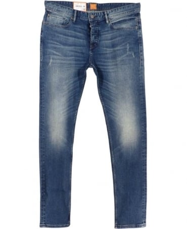 Hugo Boss 'Orange 90' Tapered Fit Jeans In Mid Blue
