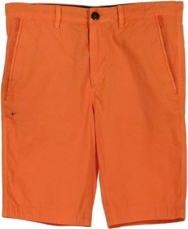 Stone Island Orange Bermuda L07WN Shorts