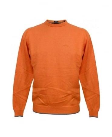 Armani Orange Knit With Grey Elbow Patches U6W83