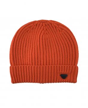 Armani Jeans Orange Ribbed 934029 Beanie