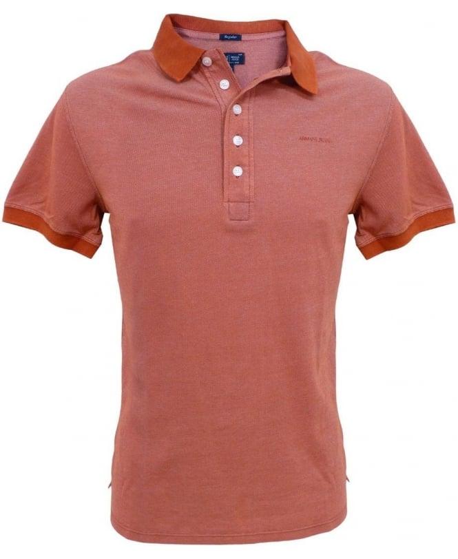 Armani Jeans Orange V6M95 Polo