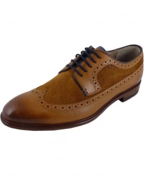 Oliver Sweeney Ossington Whisky Two-tone Suede & Leather Brogue