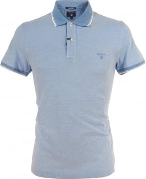 Gant Pacific Blue Oxford Pique Polo